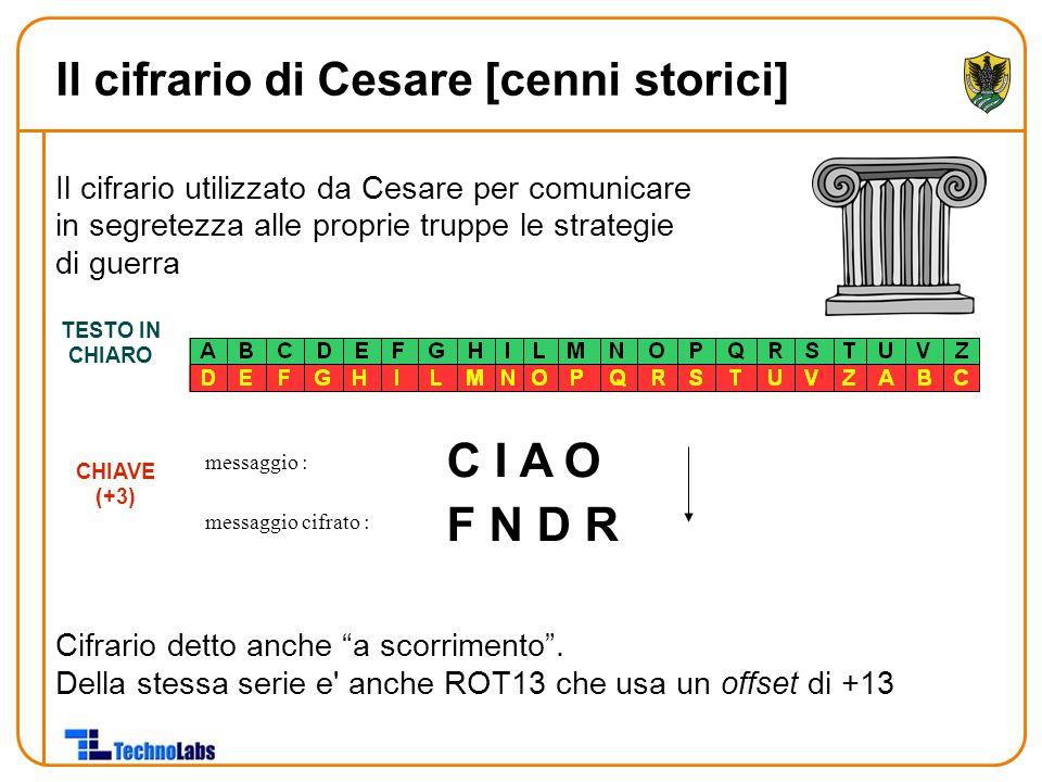 Il cifrario di Cesare [cenni storici]